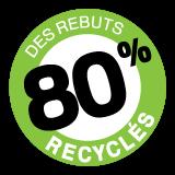 80% Des rebuts recyclés - Enfouibec