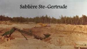 Sablière à Ste-Gertrude - Enfoui-Bec